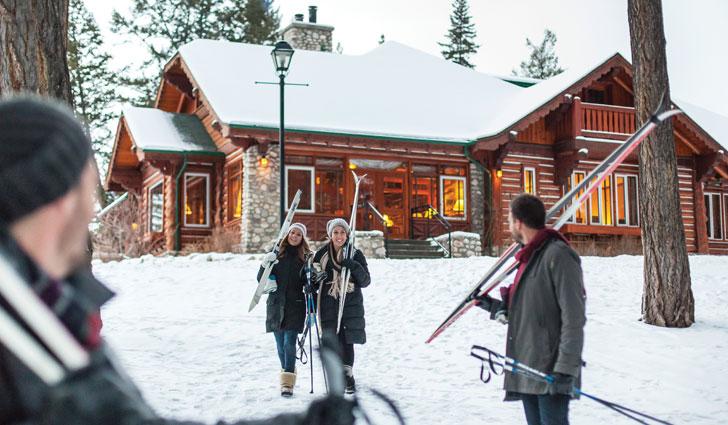 Skifahrer in Kanada - Marmot Basin