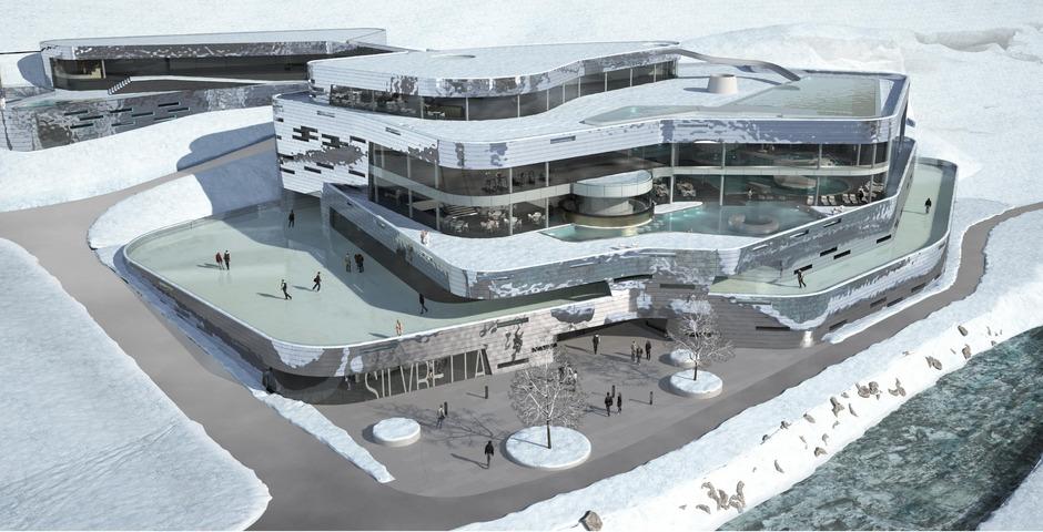 Entwurf der Architekturgemeinschaft Krieger-Wimreiter für die Silvretta-Therme