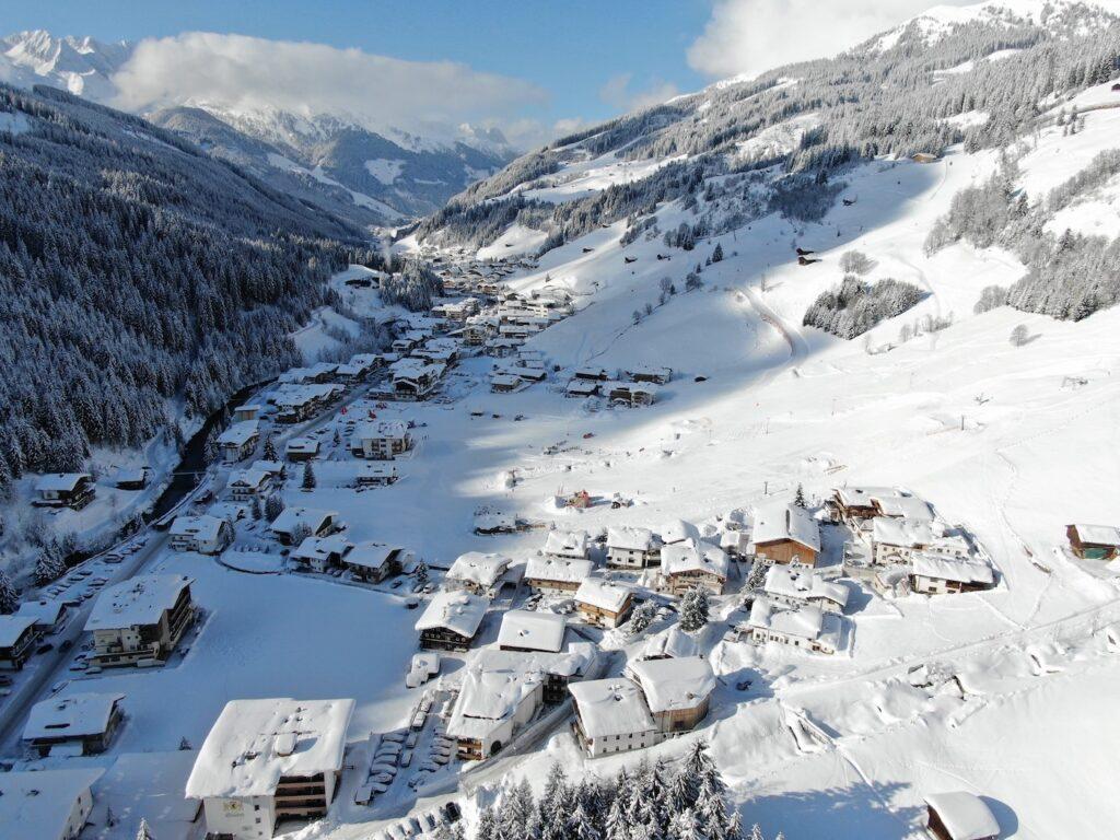 Gerlos dorp wintersport februari